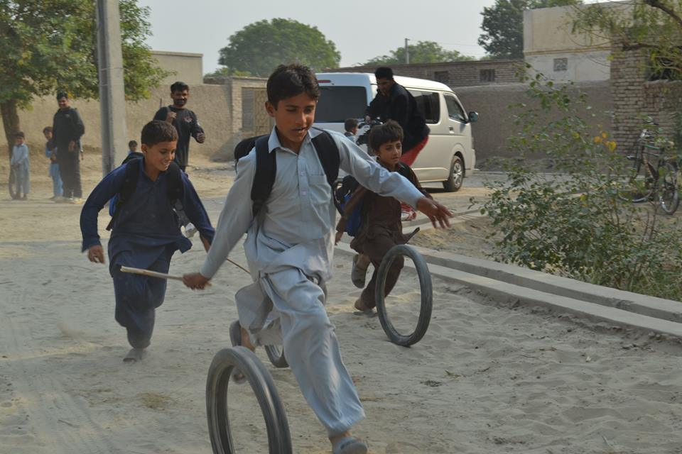 Boys playing in Pakistan