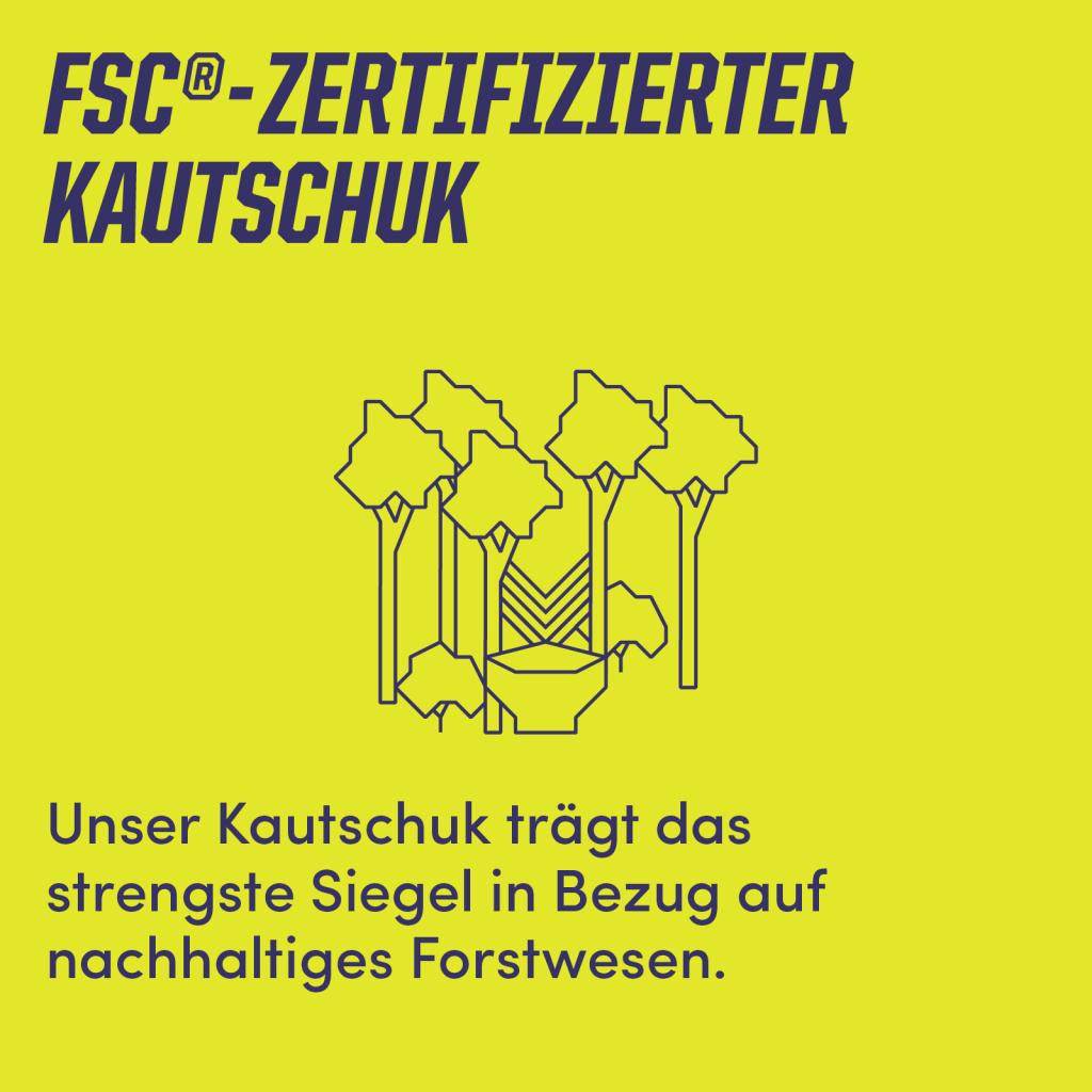 Fsc®-zertifizierter Kautschuk