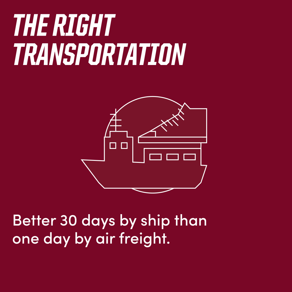 The right transportation
