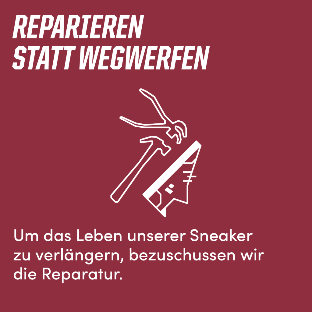 REPARIEREN STATT WEGWERFEN