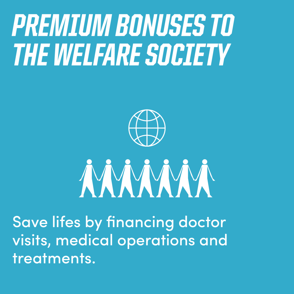 Premium Bonuses to the Welfare Society