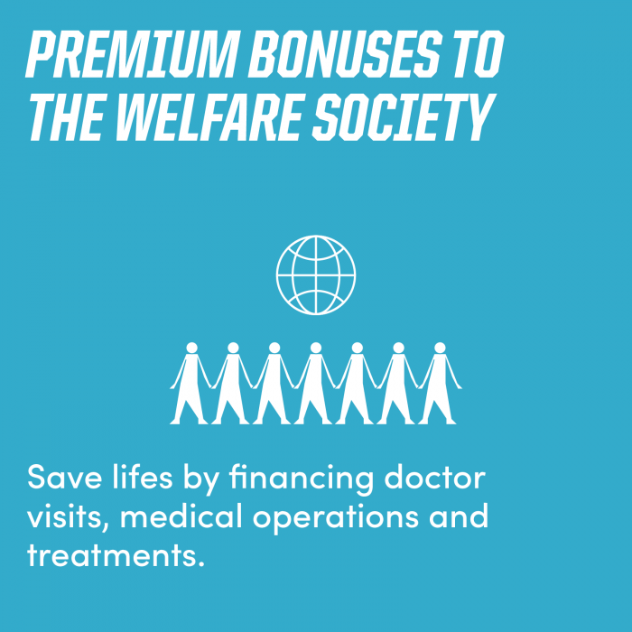 Premium Bonuses to the Welfare Society
