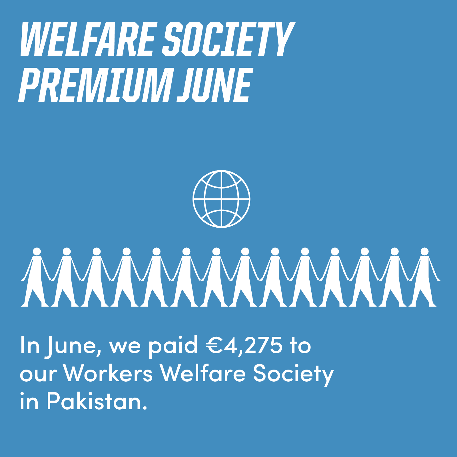 In June, Ethletic paid 4,275 US Dollar to the Workers Welfare Society.