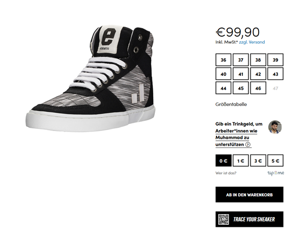 TRACE YOUR SNEAKERS in Webshop